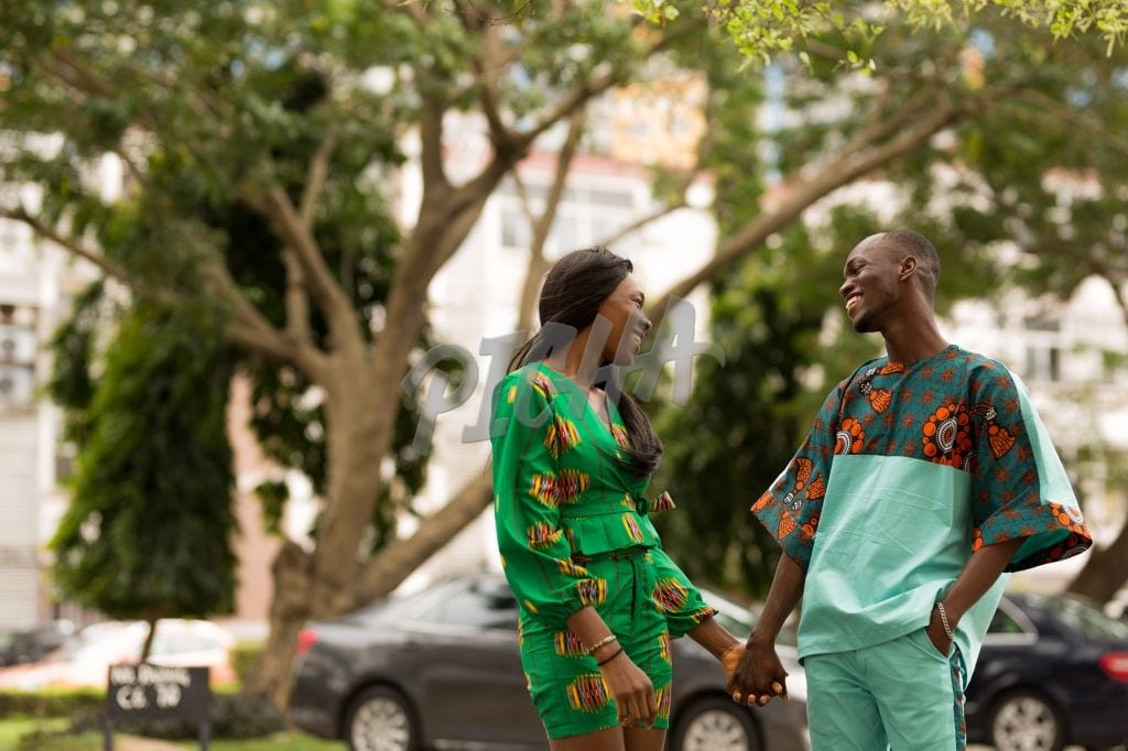 Cute couple in ankara outfits