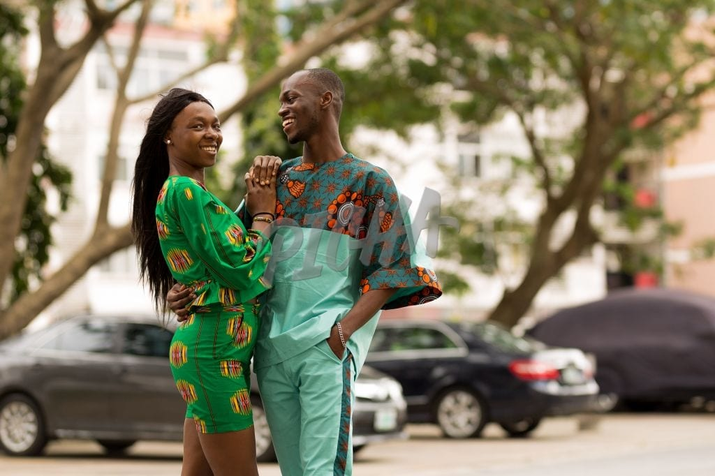 Stylish Couple in ankara