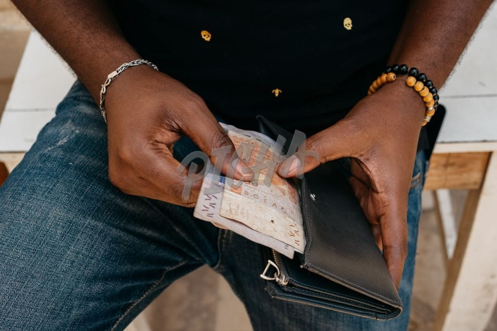 Pulling out cash