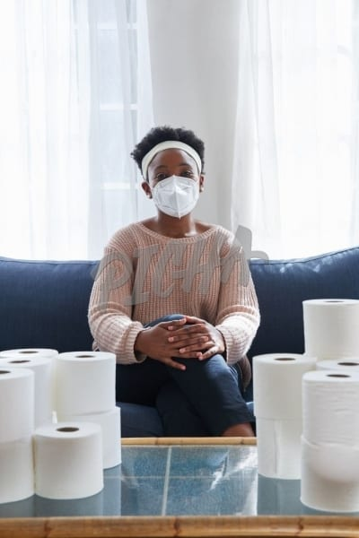 N95 mask and toilet paper