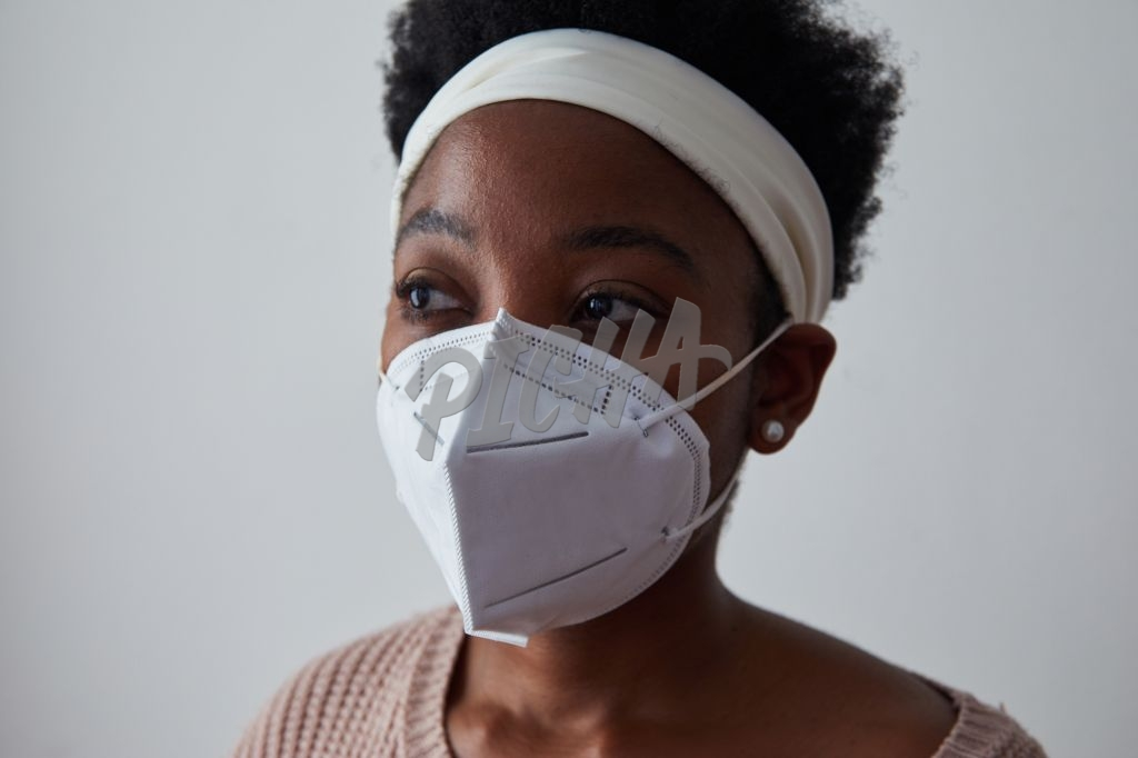 Donning a N95 mask