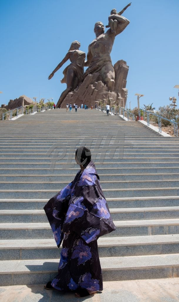 Admiring the African Renaissance monument