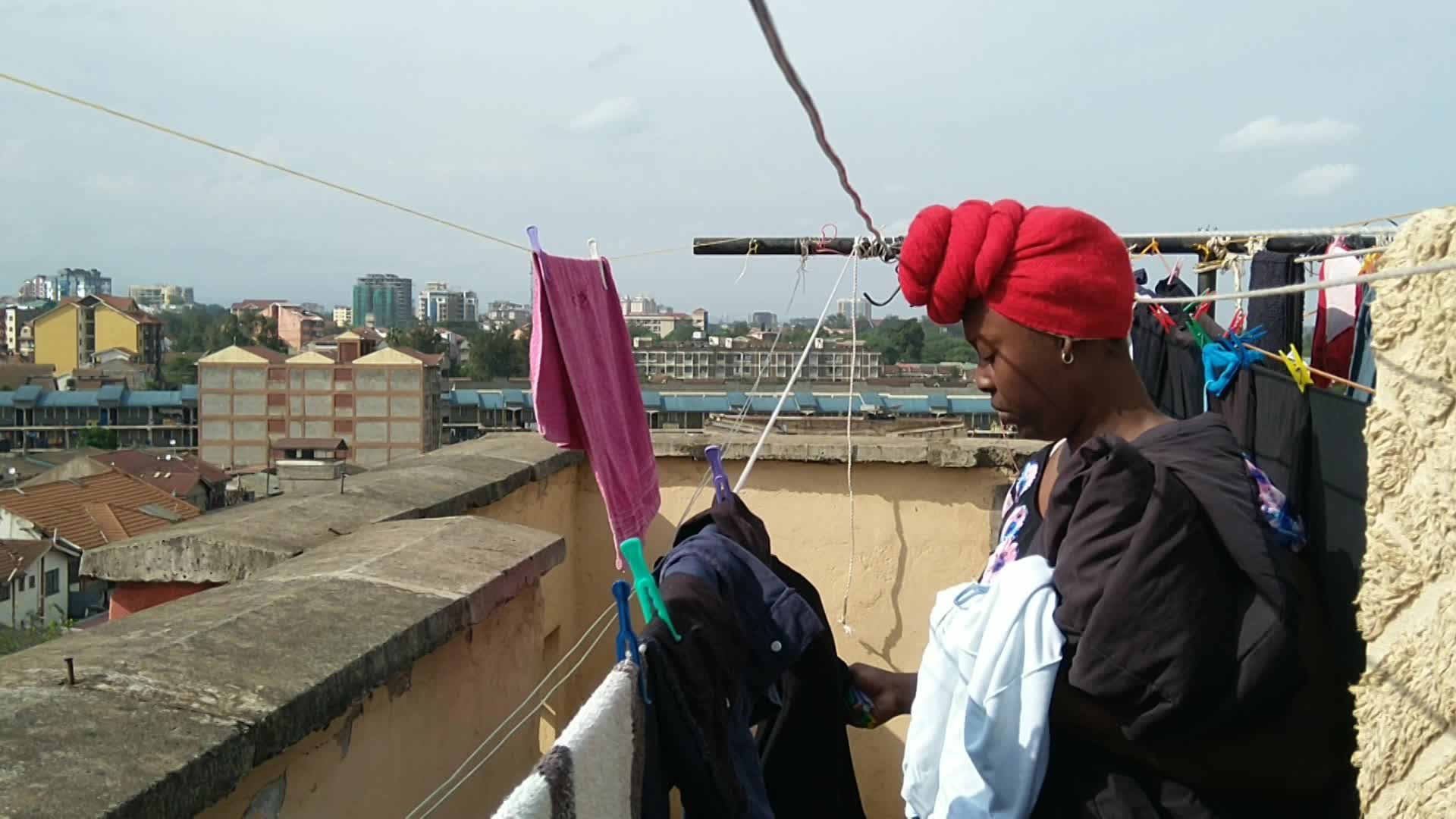 Taking Clothes Off The Line