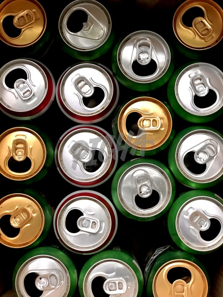 recycled beer cans