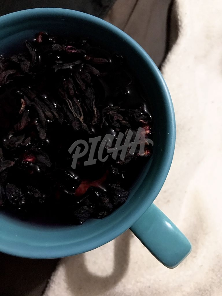 Cup of Healthy hibiscus tea