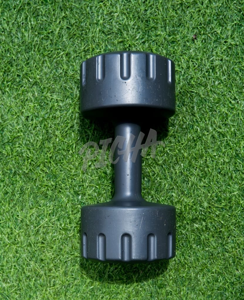 Dumbbell on turf