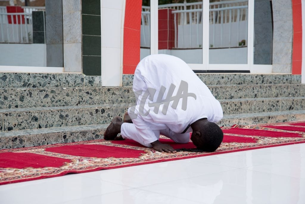 Prostrating in prayer