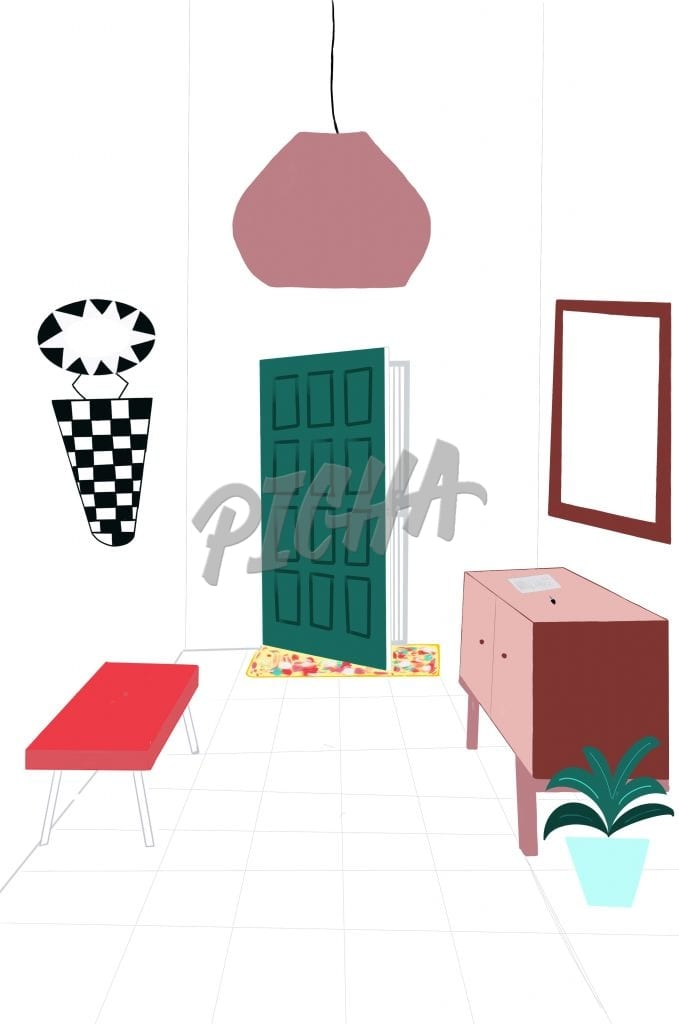 Foyer design- illustration
