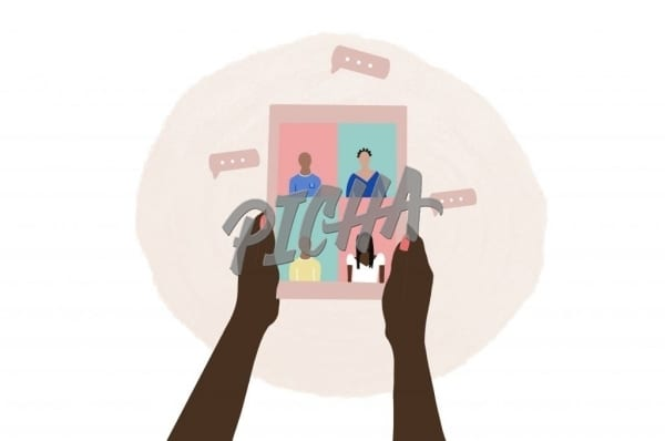 Group video chat – illustration
