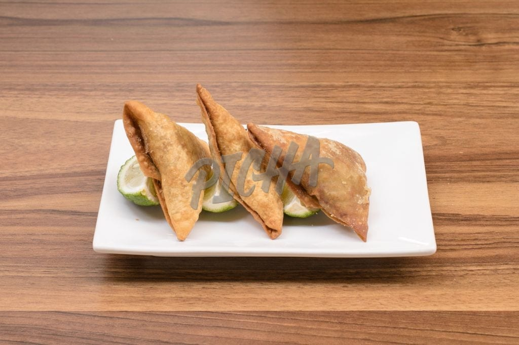Samosas and lime