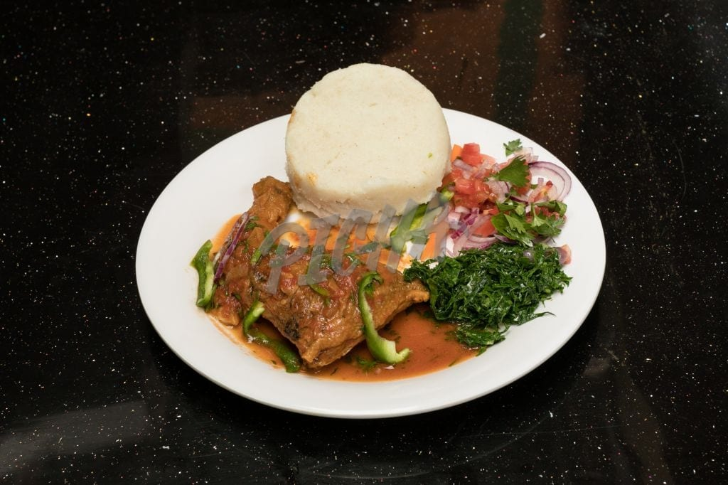 Ugali and stew