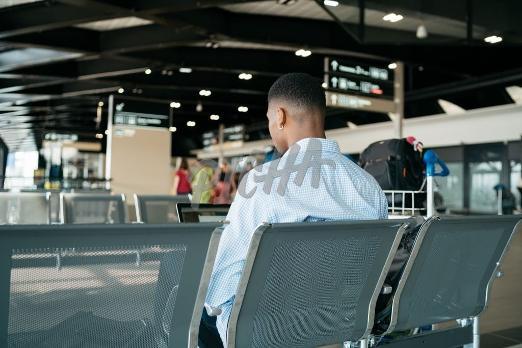 Seated at the airport
