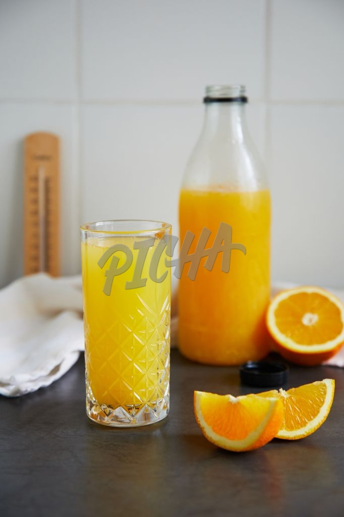 Freshly squeezed orange juice in a glass