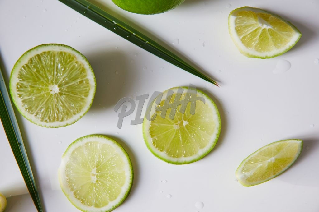 Tropical lime flatlay