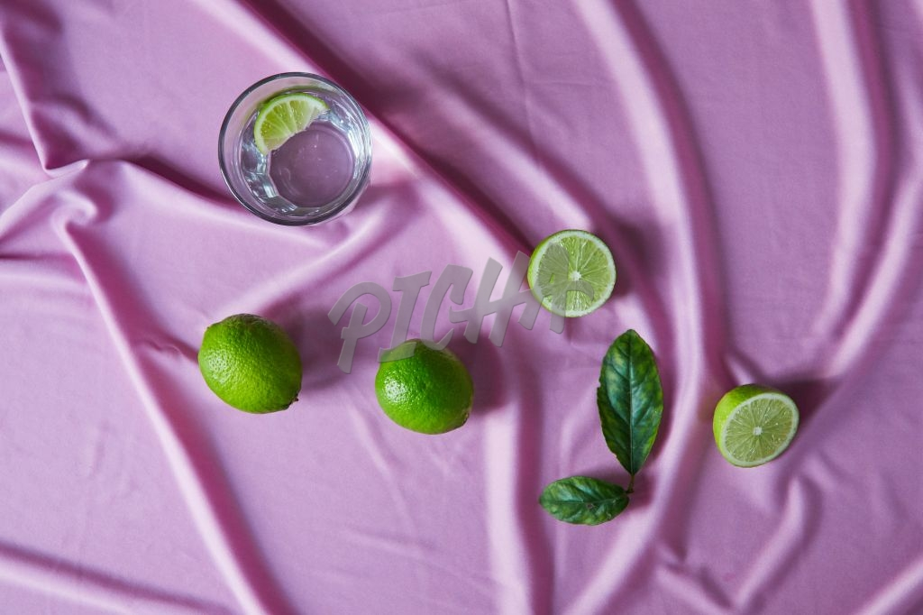 Limes and water