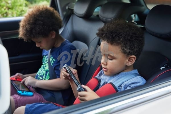 Playing games in the car