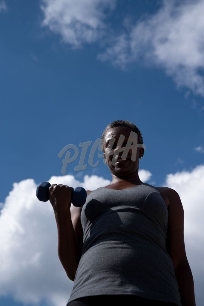 lady working out