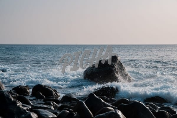 rocks in the ocean