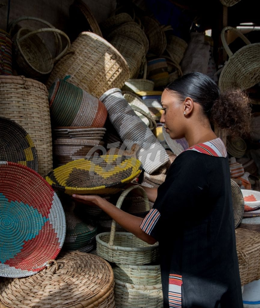 Shopping for woven baskets
