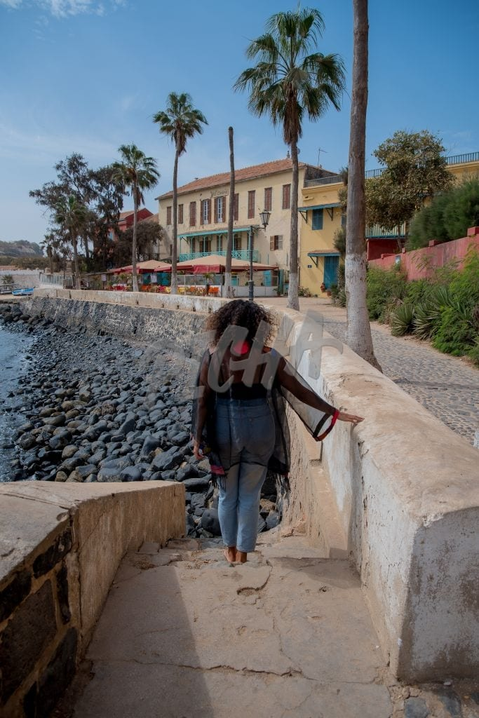 walking down to the water