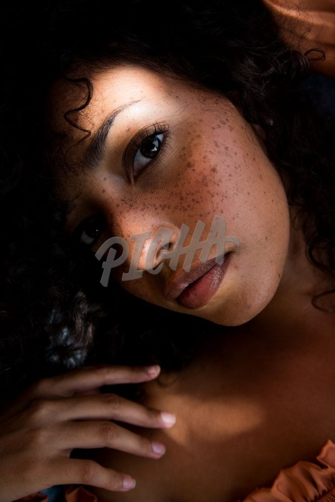 close up picture of a young woman