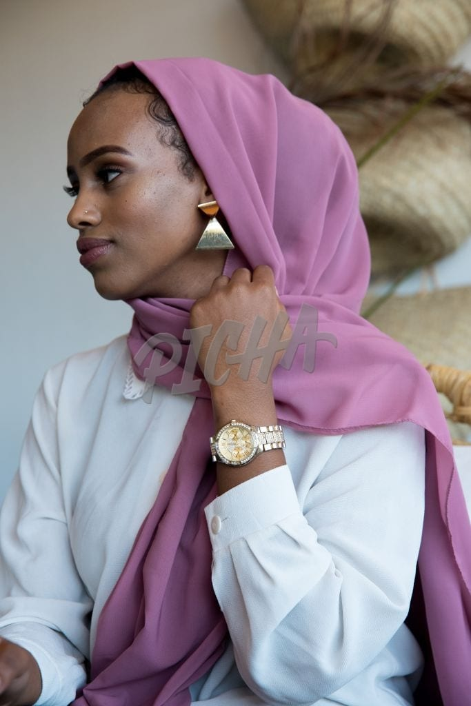 Woman posing with a hijab