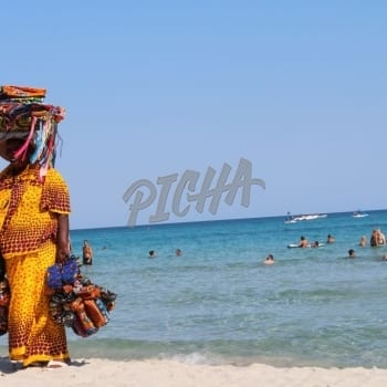 African Lady Selling On The Beach
