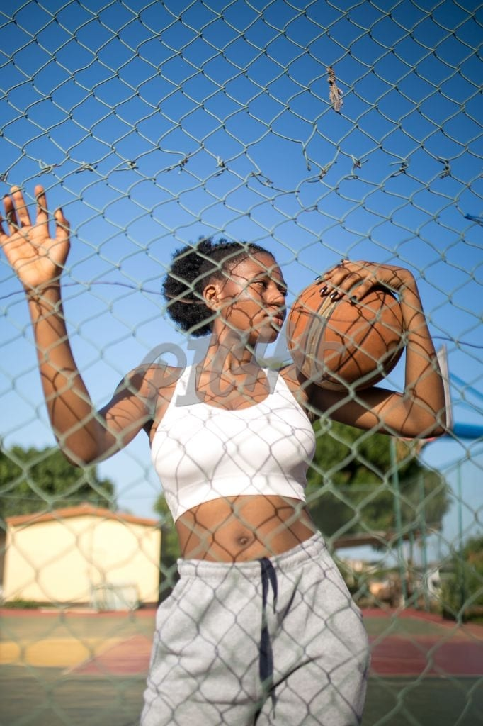 At the basketball court