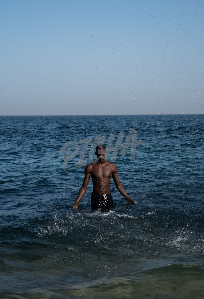 young man in the water