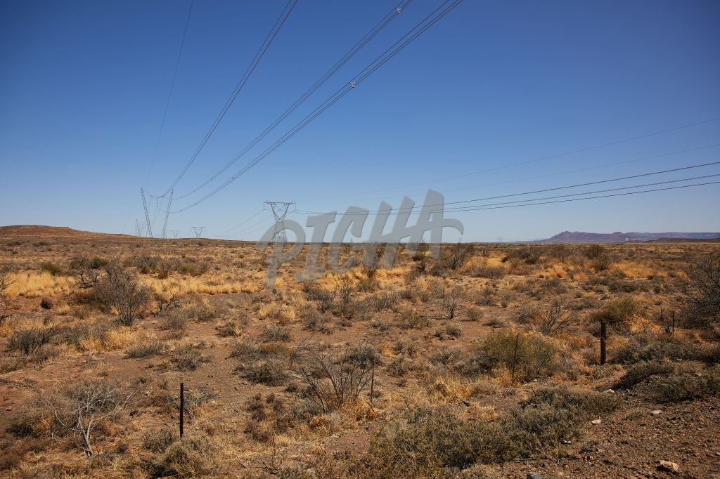 Landscape of power lines in the Karoo