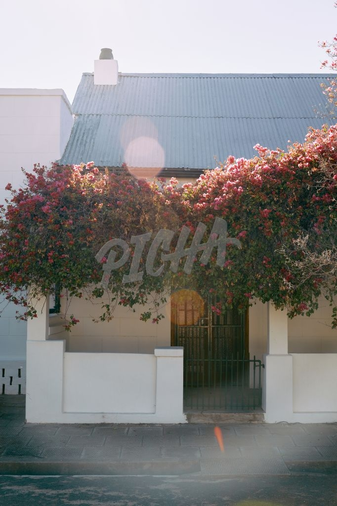 Cute house with bougainvillea