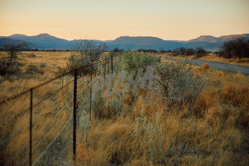 Graff-Reinet farmlands at sunset