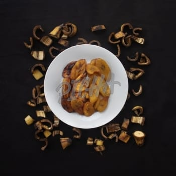 Plate of fried plantain