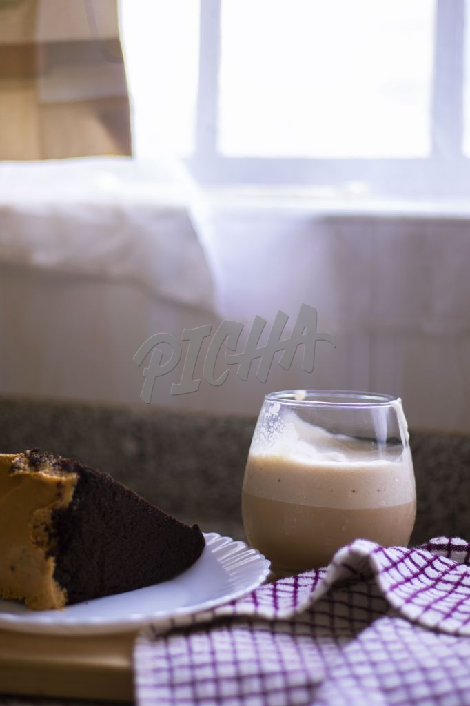 chocolate milk and cake