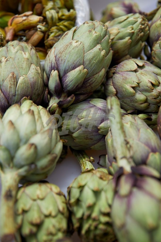 Artichoke on display at the market