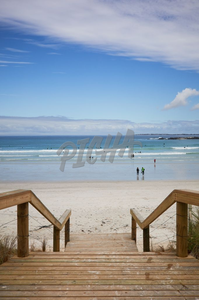 Blouberg beach scene from the boardwalk