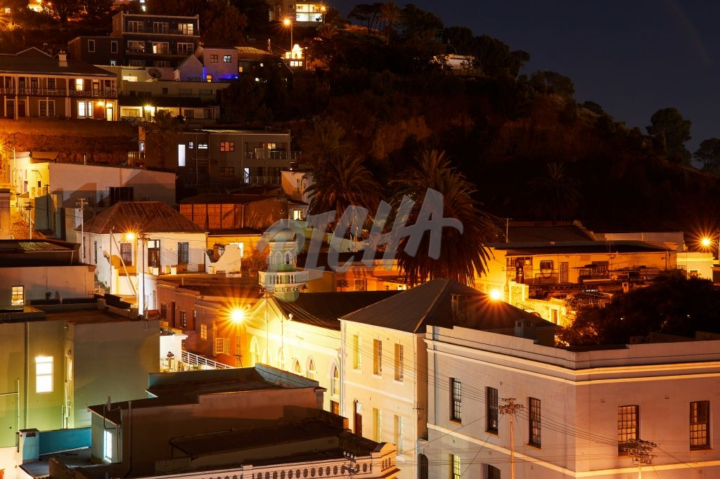 Nightscape of Bo Kaap neighbourhood