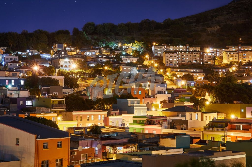Close up of Bo Kaap houses