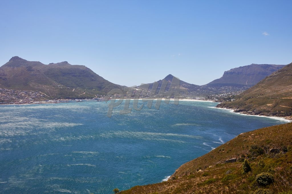 Landscape of Hout Bay on a sunny day