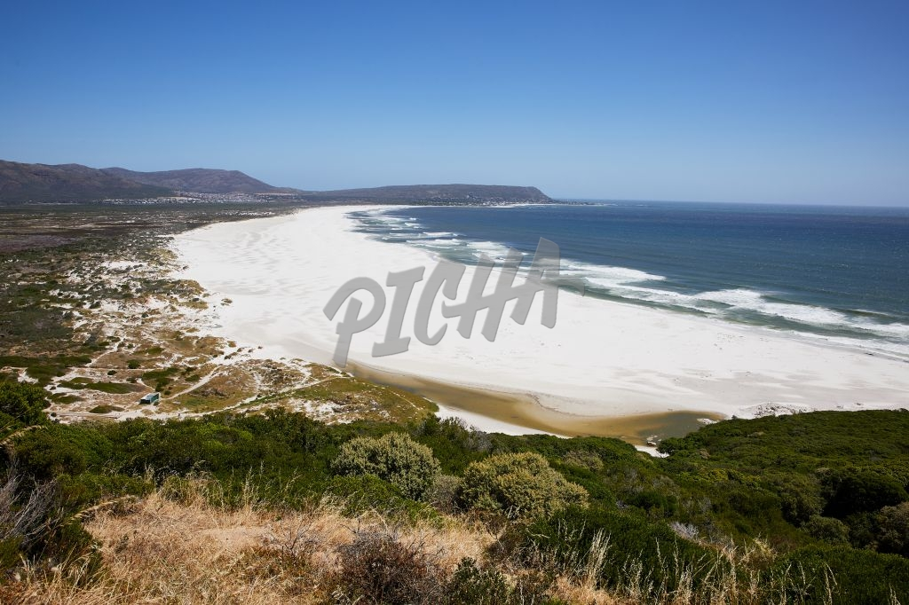 Empty beaches of Noordhoek during lockdown