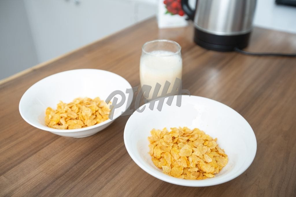 Two bowls of cereal