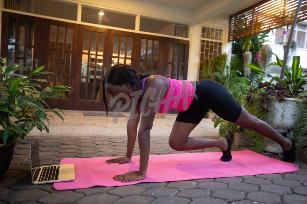 Online yoga class at home