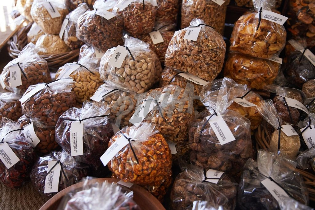 Nuts on sale at a market