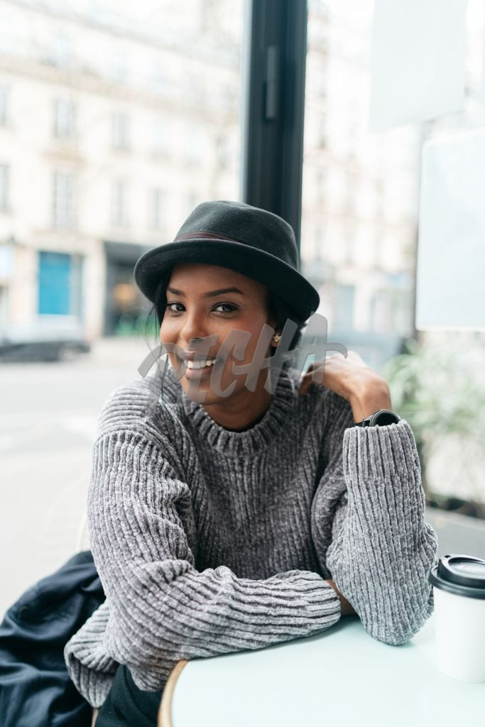 shot of a woman wearing a hat