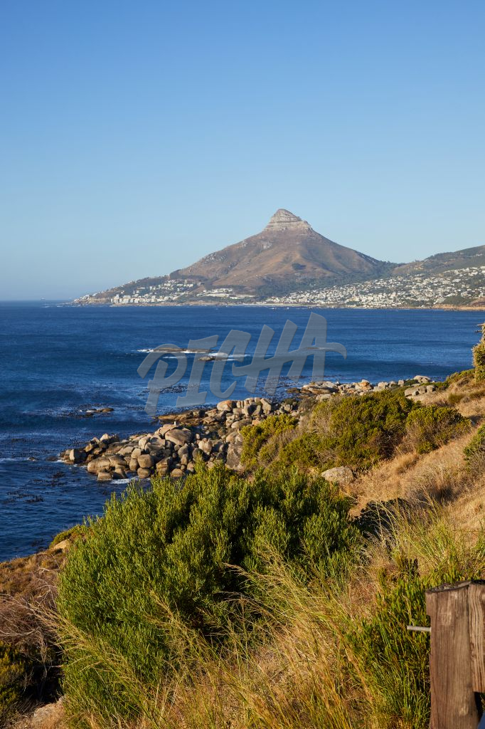 Landscape of Lion's Head over the sea