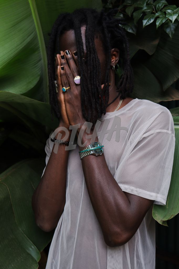 Young Black man with dreadlocks
