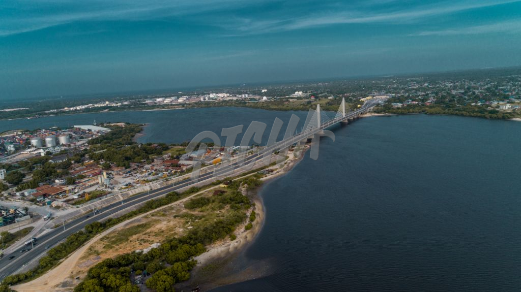 aerial view of the Dar es Salaam bridge