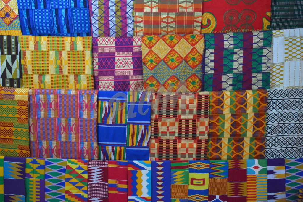 African hand made knitted material