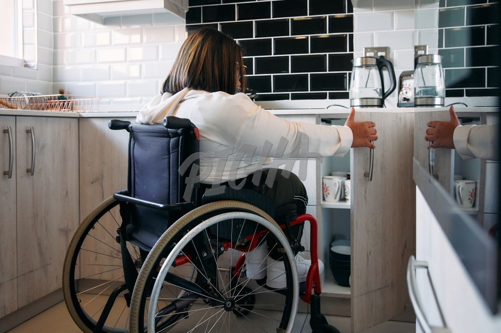 Young Woman in a wheelchair