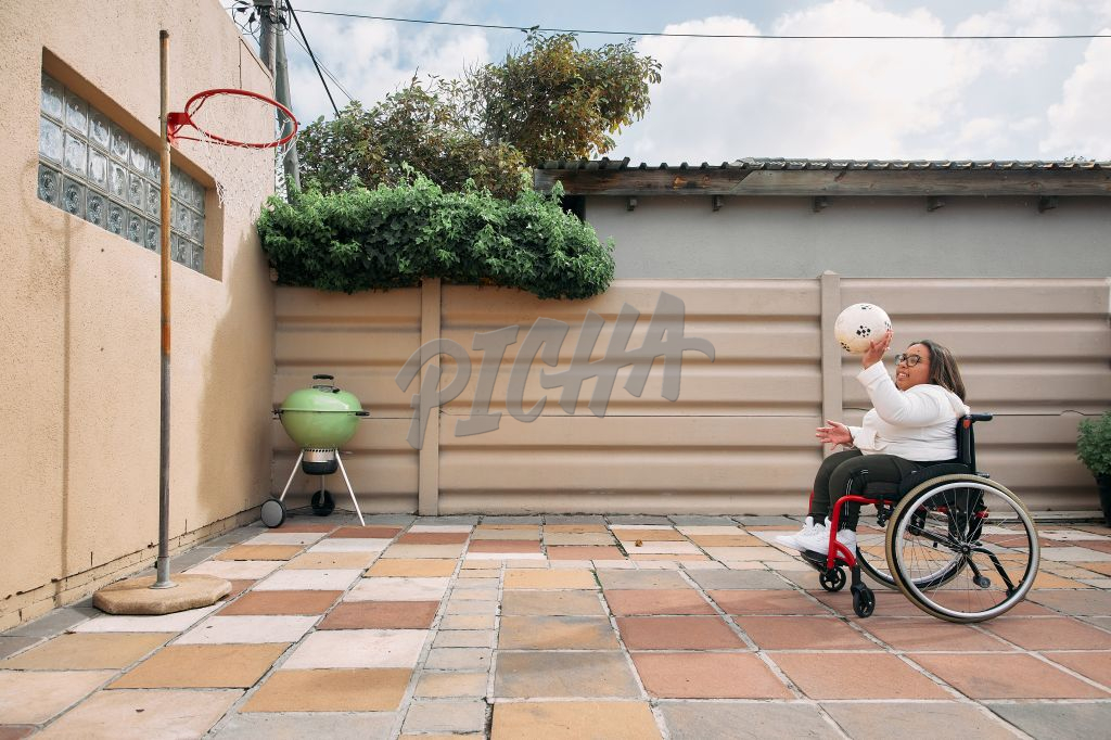 Young Woman with a disability enjoying her time outside